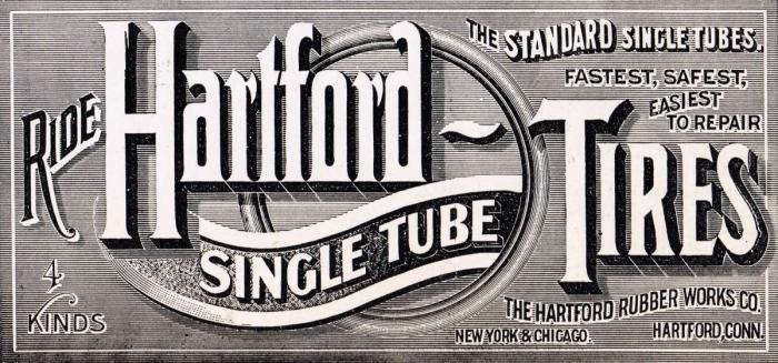 Antique Advertisement Hartford Tires
