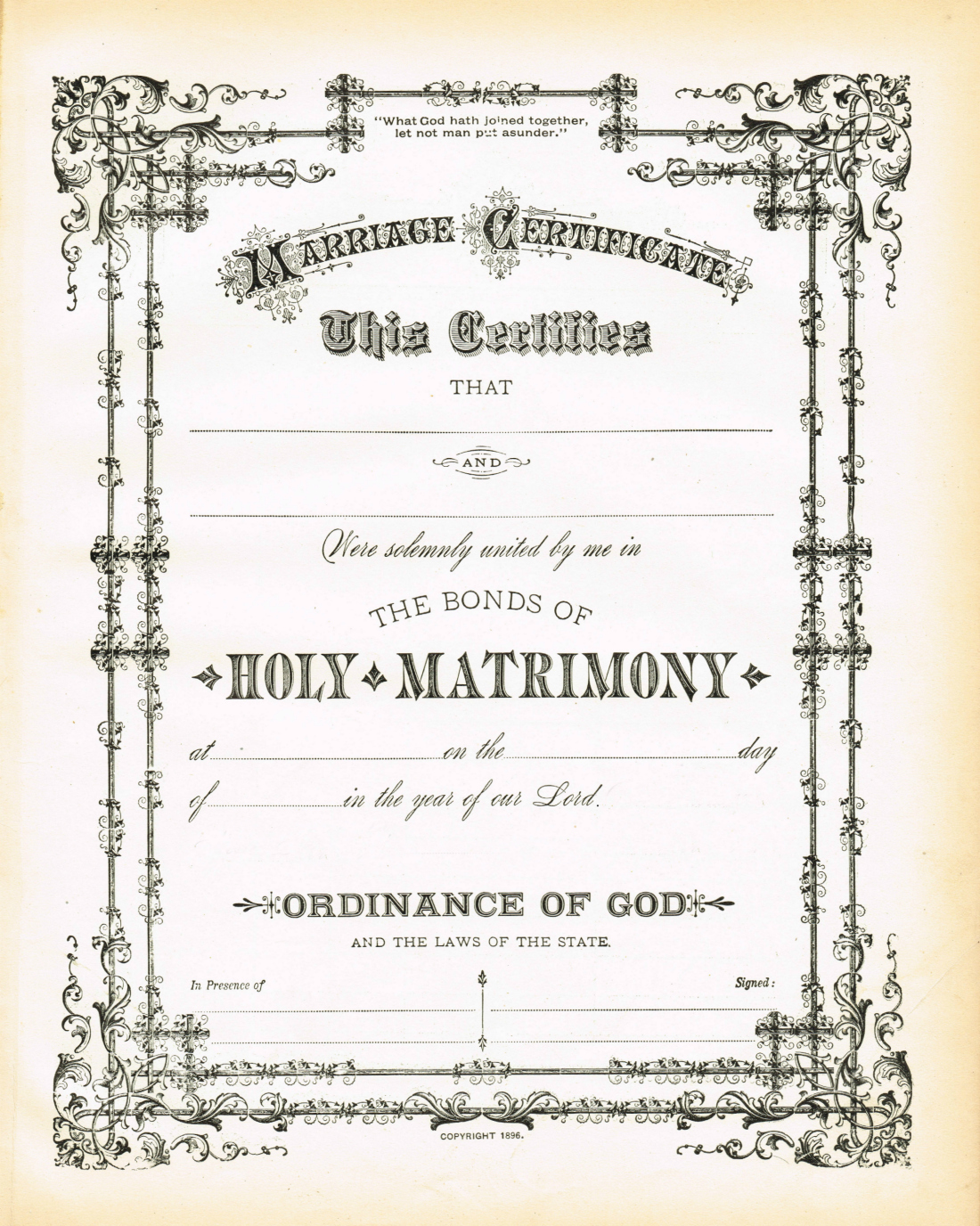 Antique Certificate Of Marriage Printable Via Knickoftime Net