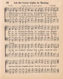 Antique Hymn Page – Let the Lower Lights be Burning