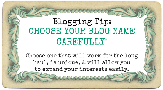 Choosing a Blog Name