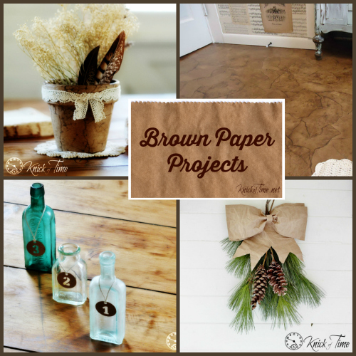 Brown Paper Craft Projects at KnickofTime.net