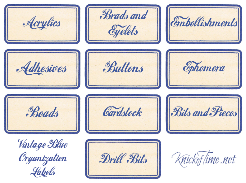Craft and Workshop Labels Set 1