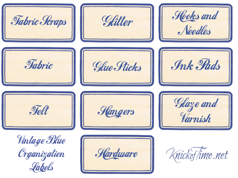 Craft and Workshop Labels Set 2