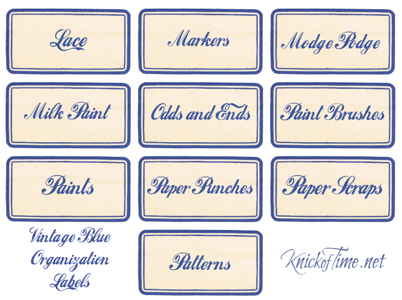 Craft and Workshop Labels Set 3