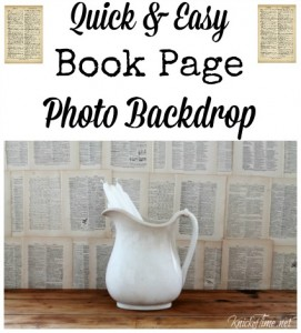 Book Page Photo Backdrop