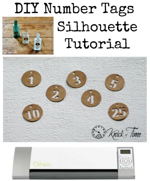 DIY Number Tags Silhouette Tutorial