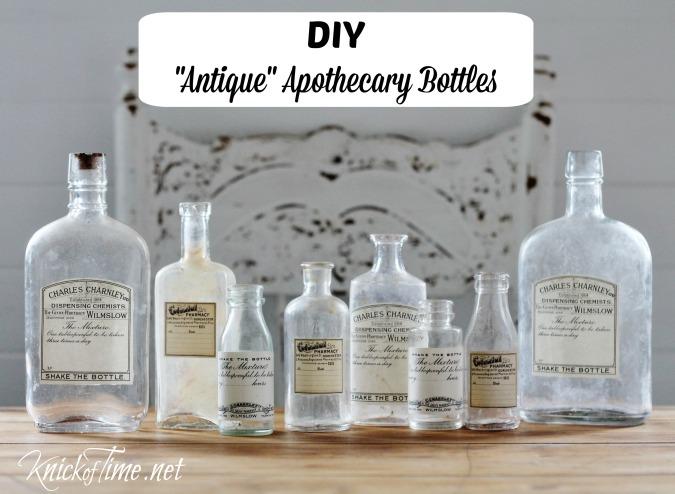 DIY apothecary bottles