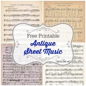 printable sheet music