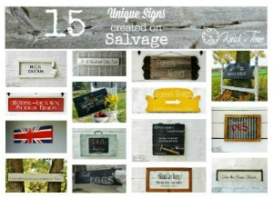 salvaged wood signs