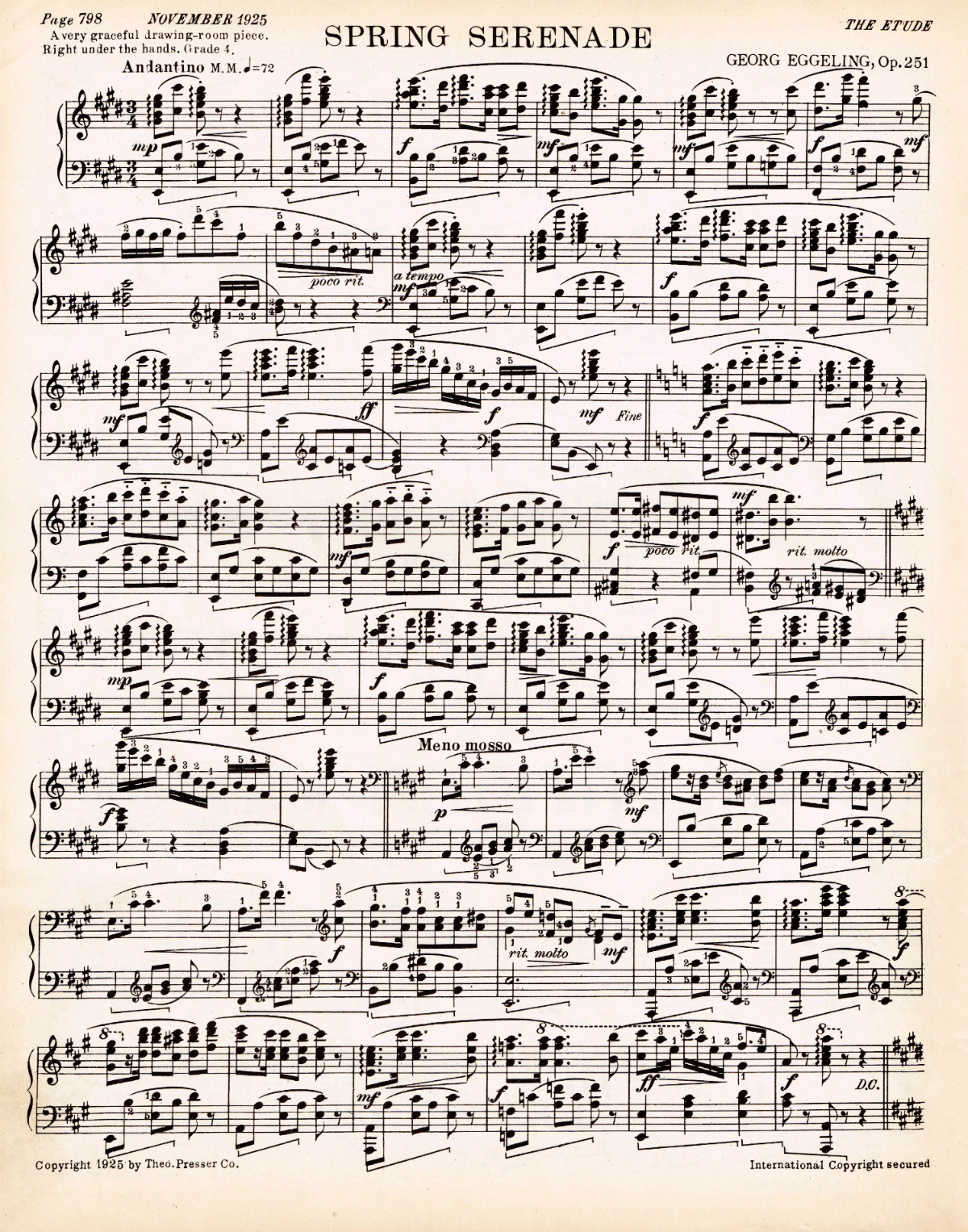 This is an image of Revered Vintage Sheet Music Printable