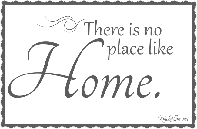There's No Place Like Home via KnickofTime.net