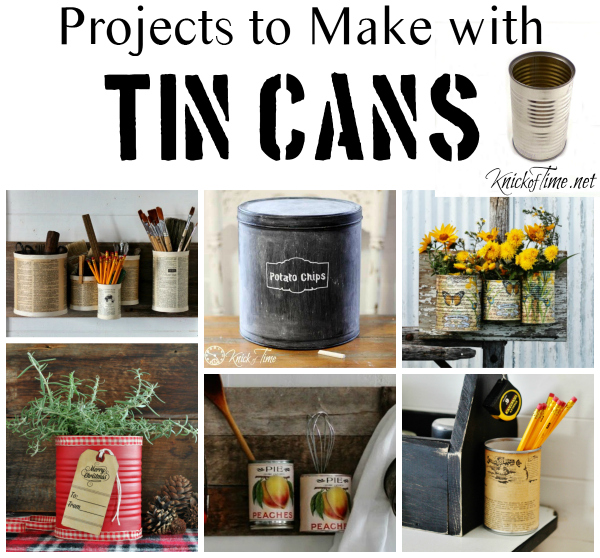 Tin can wall organizer knick of time for Tin cans for crafts