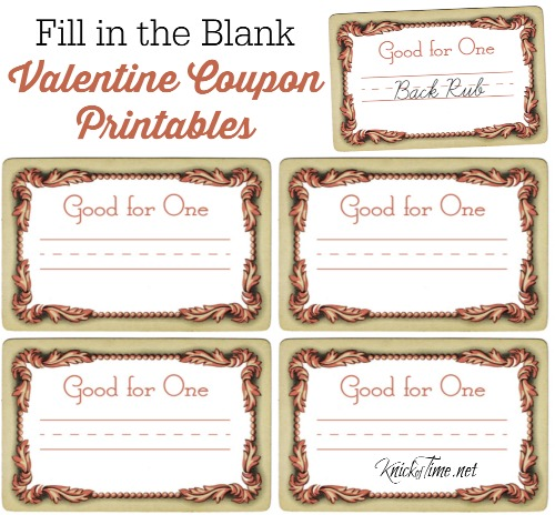 valentine coupon printables