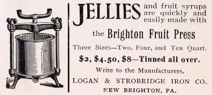 antique advertisement fruit press