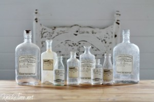 Making Antique Style Apothecary Bottles