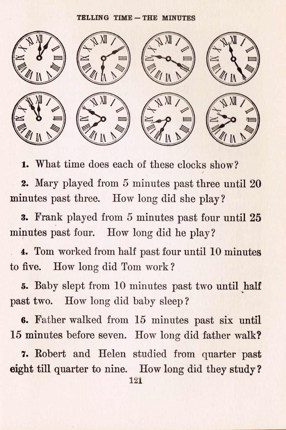 antique clocks school book page