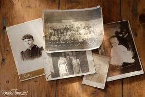 Wood Scraps and Antique Photographs