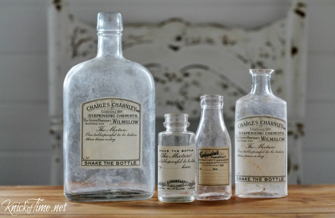 apothecary bottles and labels