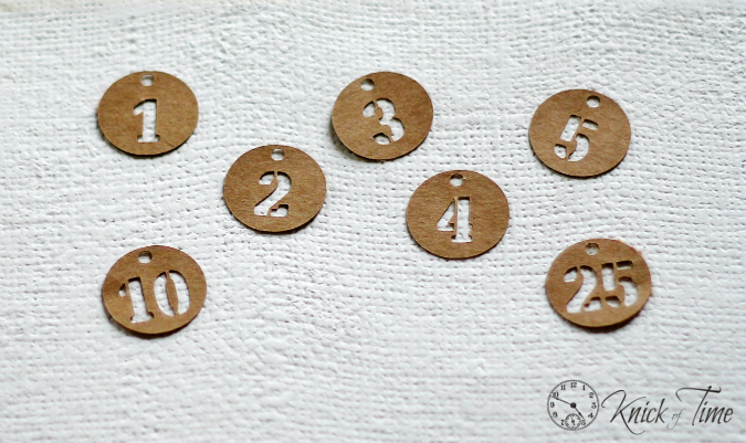 brown paper number tags