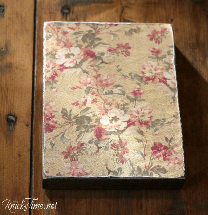 decoupage on wood