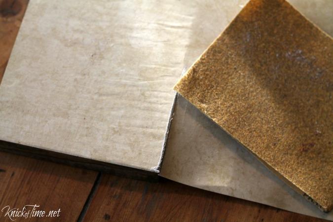 decoupaged wood blocks