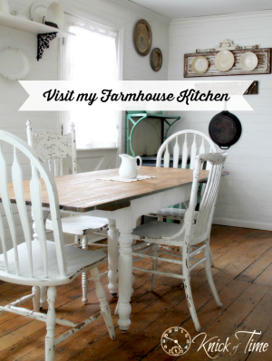 farmhouse kitchen table sidebar