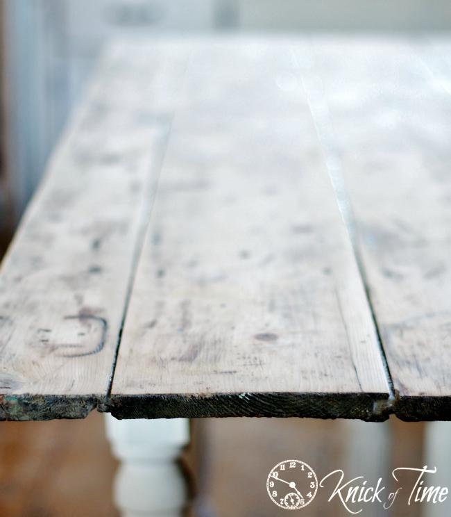 farmhouse table top sanded
