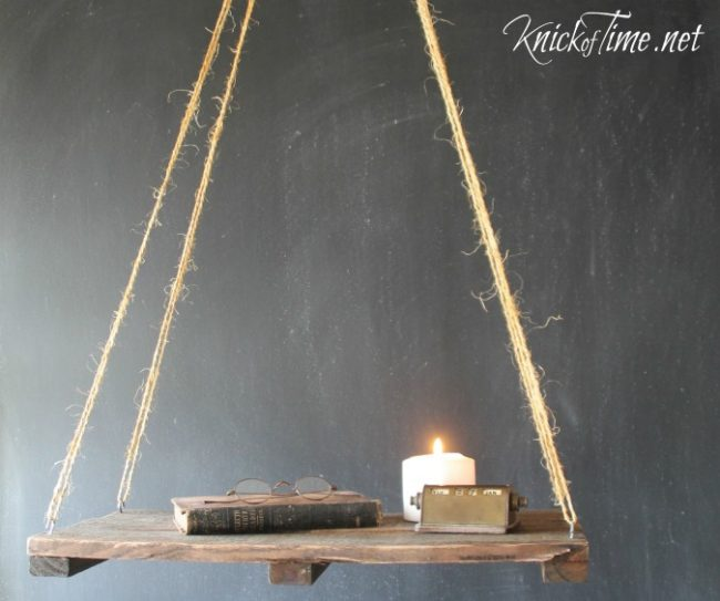 how to make a floating pallet wood shelf | www.knickoftime.net