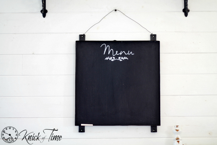 metal menu chalkboard