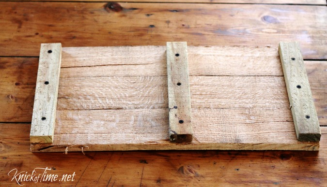 pallet wood floating shelf tutorial