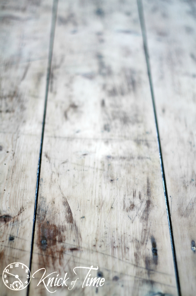 sanded wood table top
