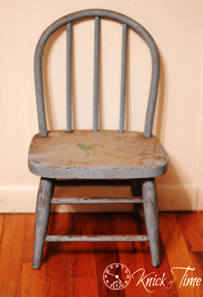 vintage child's chair - Little Child's Chair Knick Of Time