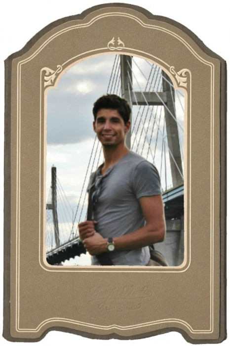 vintage photo mat frame