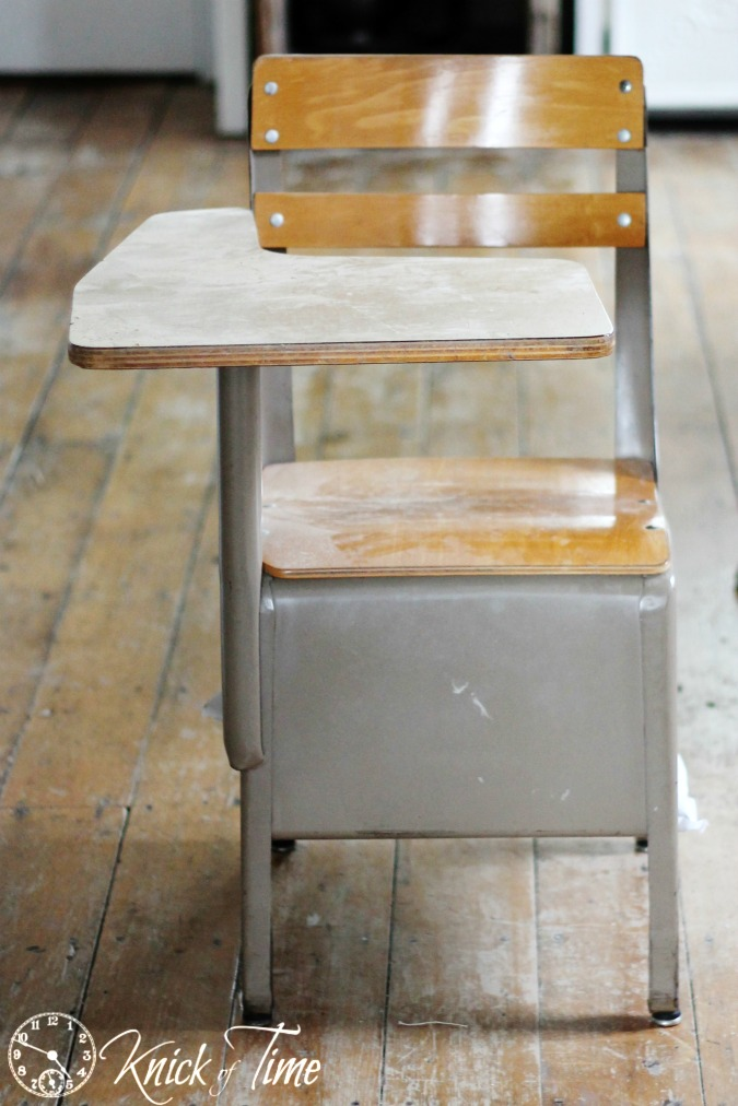 vintage school desk makeover knick of time 87974