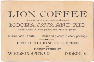 Vintage Coffee Advertising Trade Card