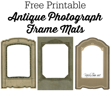 Antique Photograph Mat Frame Printables from KnickofTime.net