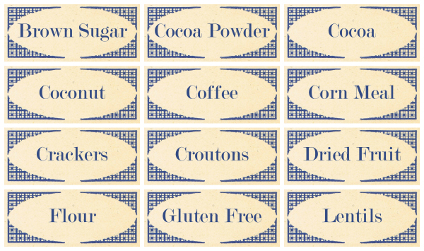 vintage style pantry labels from knickoftime net
