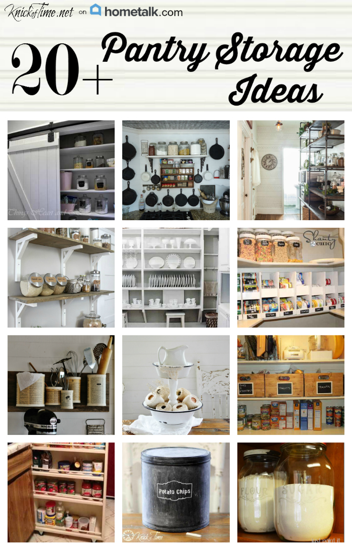 17 pantry storage ideas via for Kitchen storage ideas