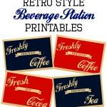 Retro Sign Beverage Station Printables