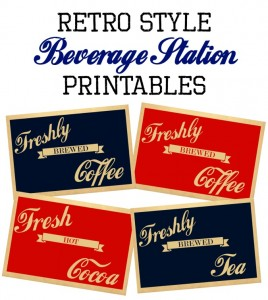 Beverage Station and Gift Card Holder Printables