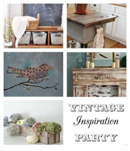 Vintage Inspiration Party #178 – Wash Tub Islands, Wooden Cubbies & More