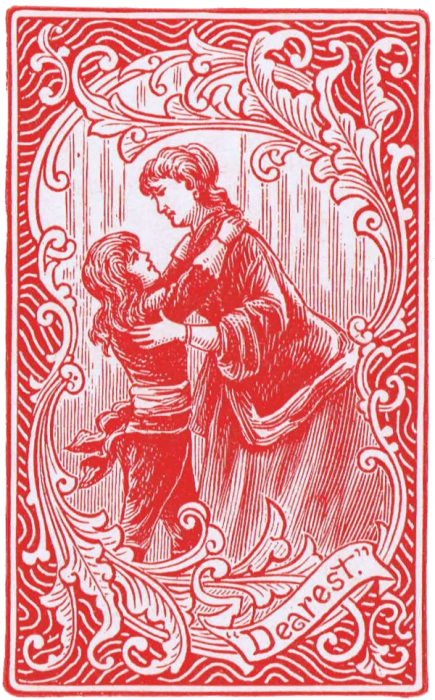Valentine Vintage Playing Card Red Boy