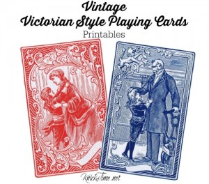Victorian Style Vintage Playing Cards Images