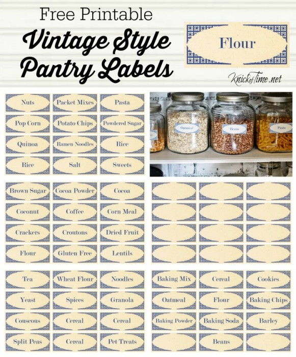 Vintage Pantry Labels