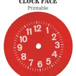 Vintage Red Clock Face Printable from KnickofTime.net
