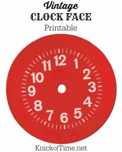 Red Vintage Clock Face