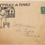 antique envelope with 1 cent postage stamp