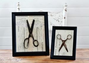 Antique Ephemera and Rusty Scissors
