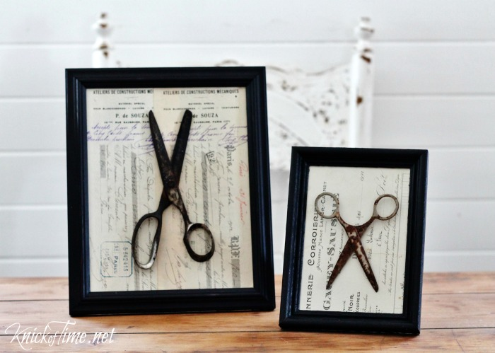 antique ephemera and old scissors