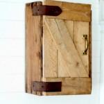 barn door storage cabinet via KnickofTime.net